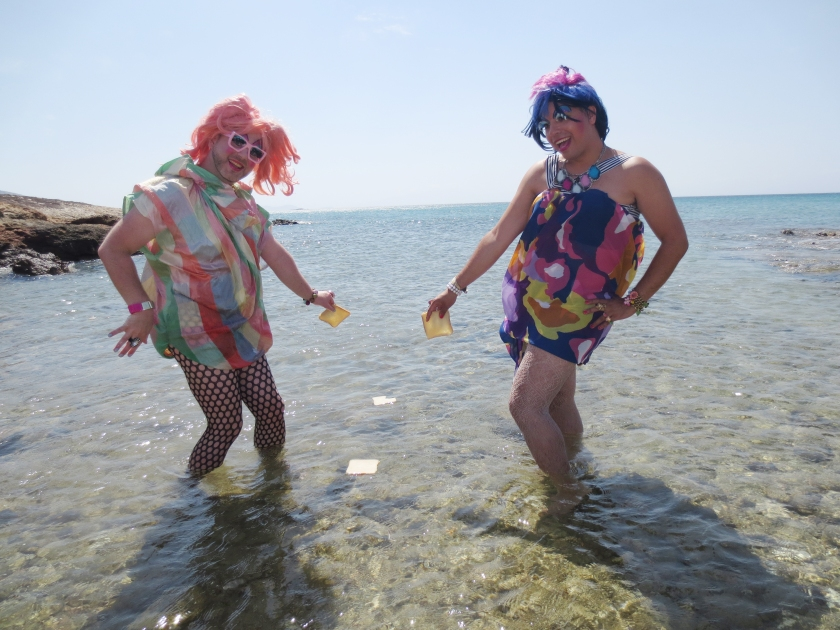Dropping some toast in the ocean - it's a tropical abortion - CHRISTEENE style - HAY!